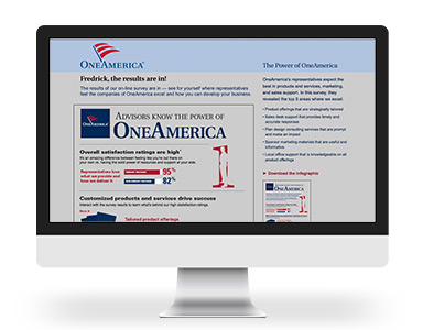 OneAmerica Retirement Infographic Landing Page and Poster